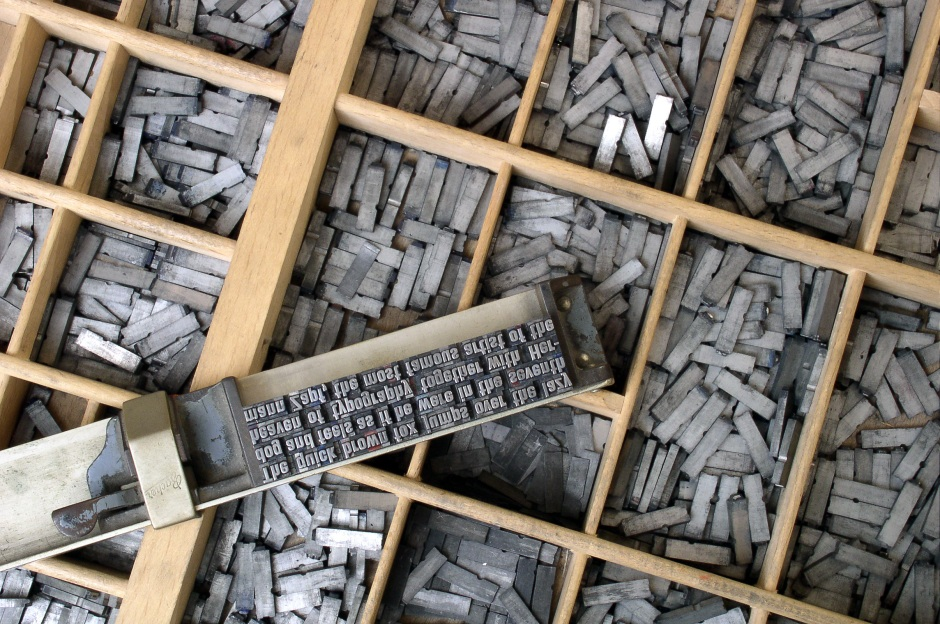 Gutenberg Metal Movable Type