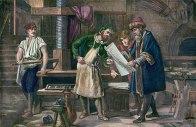 Gutenberg printing the bible