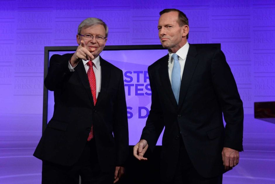 Rudd vs Abbott